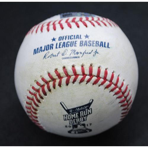 Photo of 2017 Home Run Derby (07/10/2017) - Game-Used Baseball - Gary Sanchez (New York Yankees) - Round 1, Out