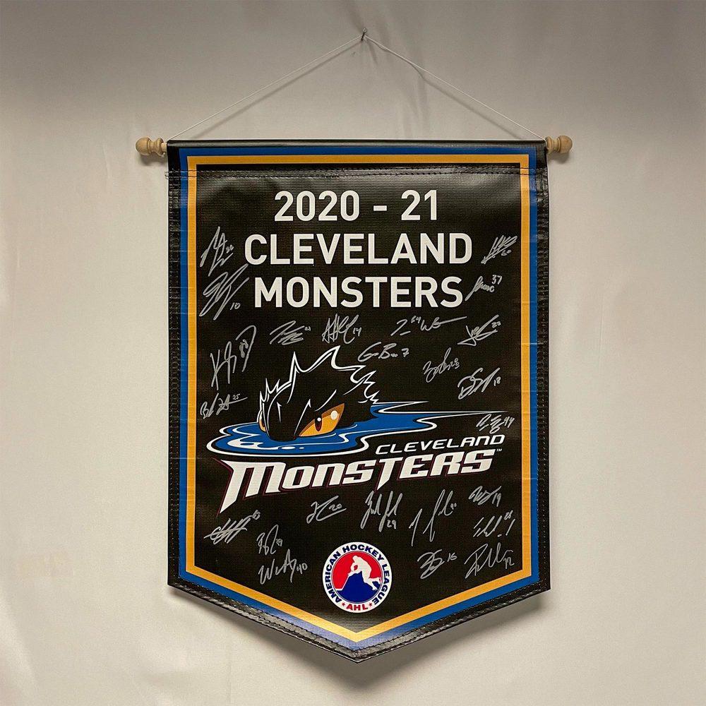 2020-21 Cleveland Monsters Team-Signed Banner