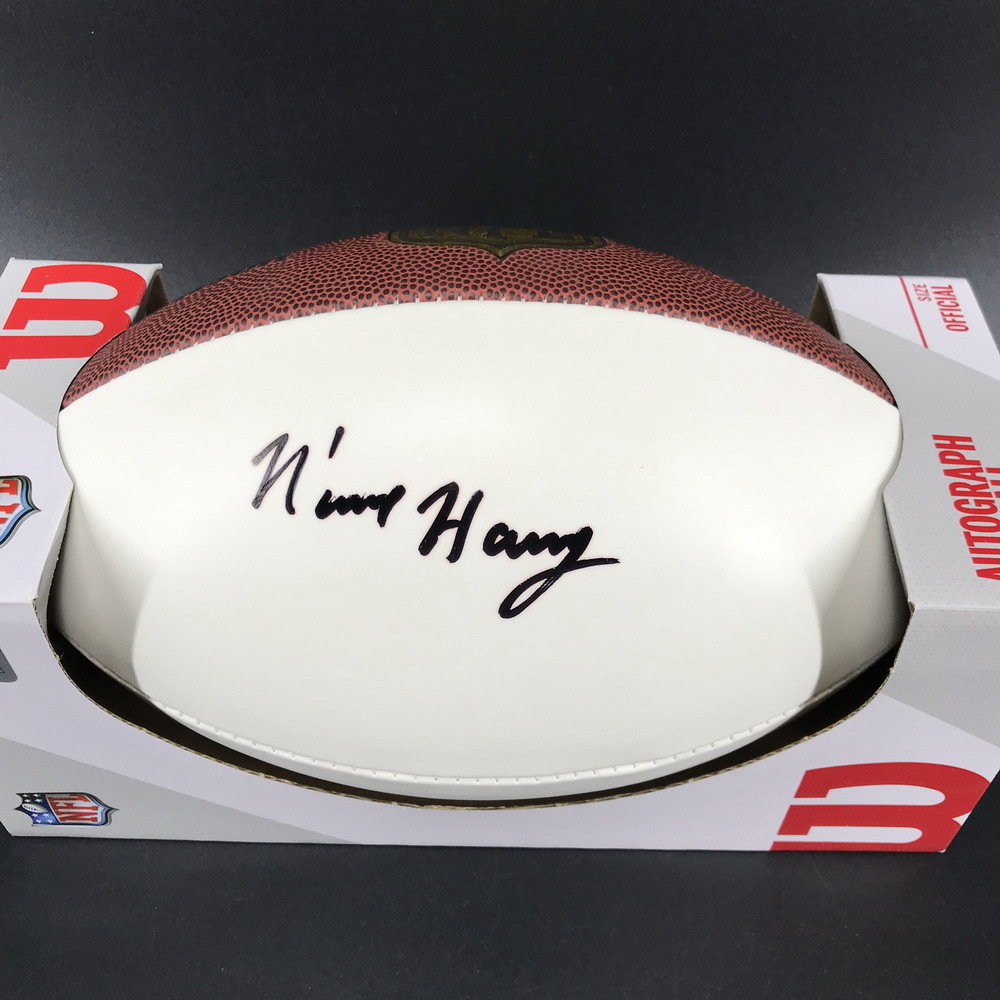NFL - Patriots N'Keal Harry Signed Panel Ball