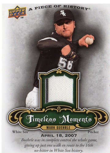 Photo of 2009 UD A Piece of History Timeless Moments Jersey #TMMB Mark Buehrle