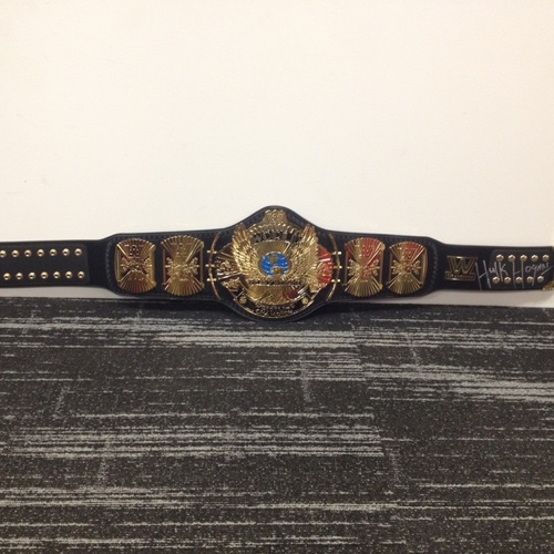 Hulk Hogan SIGNED WWE Winged Eagle Championship Replica Title