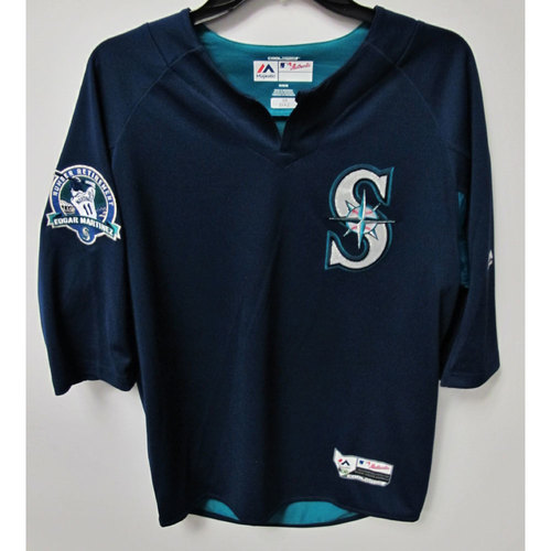 Edwin Diaz Game-Used BP Jersey With Edgar Martinez Patch Worn 8-12-2017