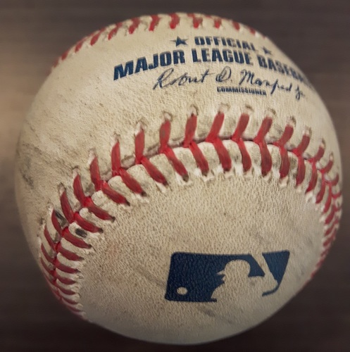 Photo of Authenticated Game Used Baseball - Ryan Tepera Strikeout on May 9, 2017 (Top 9 vs Jason Kipnis)