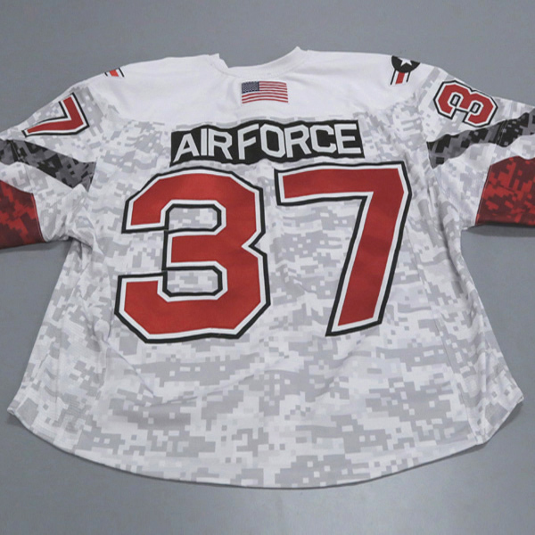 """Photo of Ohio State Ice Hockey Military Appreciation Jersey #37 """"Air Force"""" / Size 60G"""