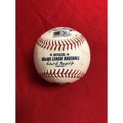 Game-Used Baseball: Juan Soto Single