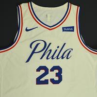 Ersan Ilyasova - Philadelphia 76ers - Game-Worn 'City' Jersey - 2017-18 Season