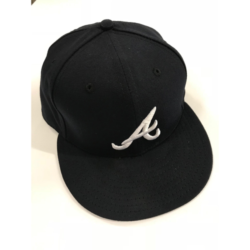 Photo of Ronald Acuna Jr. MLB Debut Game Used Cap - Worn 4/25/18, 4th-9th Inning - Worn During First Career Hit - 2018 NL Rookie of the Year