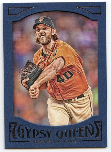 Photo of 2016 Topps Gypsy Queen Framed Blue #59 Madison Bumgarner