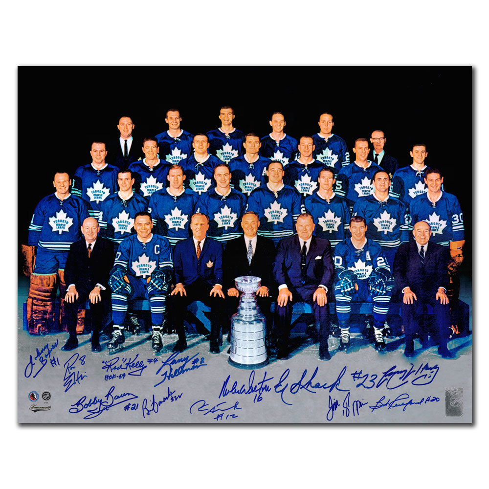 1967 Toronto Maple Leafs Stanley Cup Champions Autographed 16x20 Signed by 12