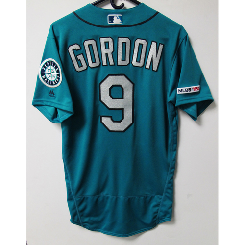 Photo of Dee Gordon Game-Used Green Jersey - Worn 6-21-2019 - Size 40