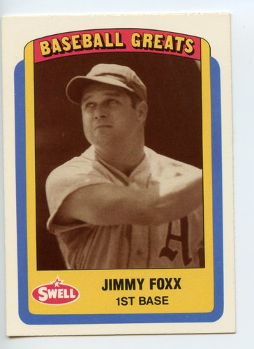 Photo of 1990 Swell Baseball Greats #101 Jimmie Foxx