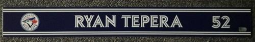 Photo of Authenticated Game Used Locker Name Plate - #52 Ryan Tepera (Sept 24, 18: 0.1 IP, 0 ER)
