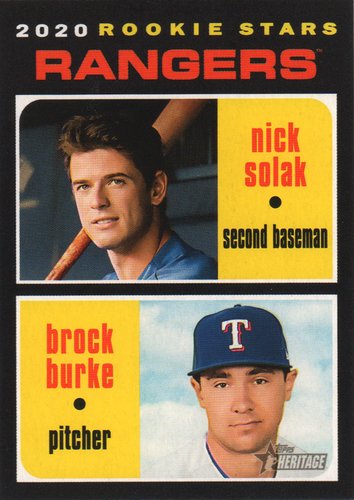 Photo of 2020 Topps Heritage #181 Nick Solak RC/Brock Burke RC