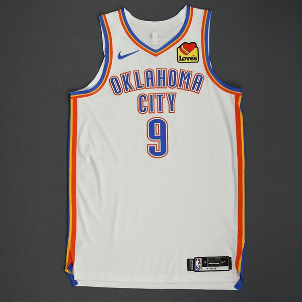 Image of Nerlens Noel - Oklahoma City Thunder - Game-Worn Association Edition Jersey - Double-Double - 2019-20 NBA Season