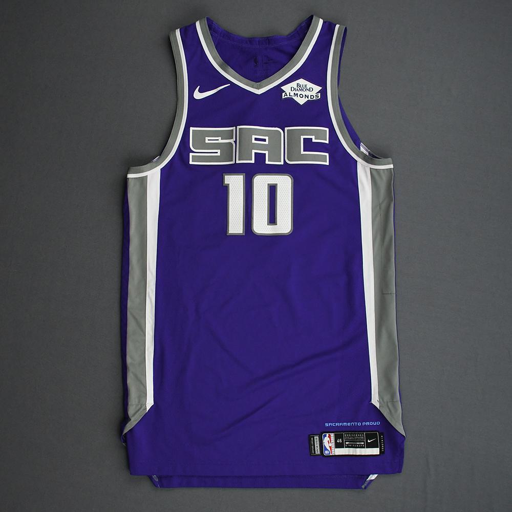 Justin James - Sacramento Kings - Game-Worn Icon Edition Rookie Debut Jersey - 2019-20 Season