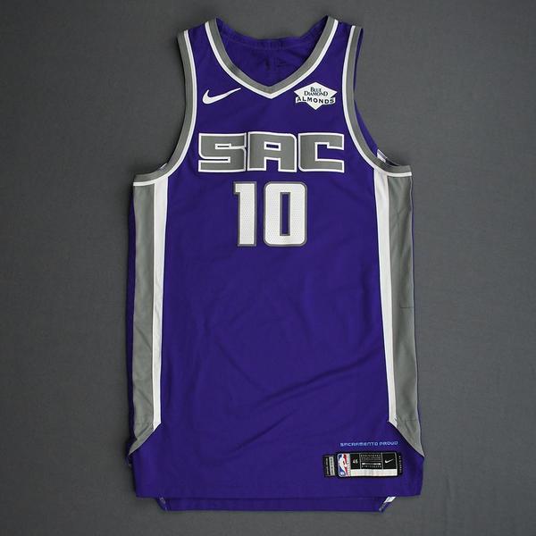 Image of Justin James - Sacramento Kings - Game-Worn Icon Edition Rookie Debut Jersey - 2019-20 Season