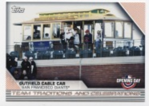Photo of 2020 Topps Opening Day Team Traditions and Celebrations #TTC7 Outfield Cable Car