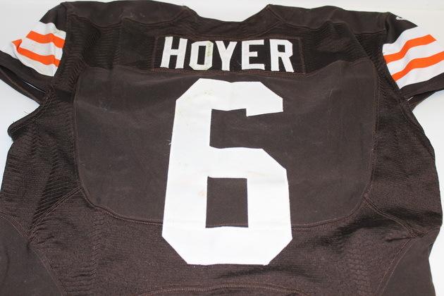 NFL Auction   BRIAN HOYER GAME WORN BROWNS JERSEY (NOVEMBER 2014)
