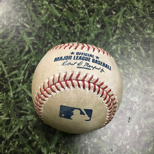 Photo of Game-Used Baseball MIL@ARI 06/11/17 - Robbie Ray - Lewis Brinson: Foul Ball, 1st MLB At-Bat (INCLUDES FREE SHIPPING & FREE 2020 GAME-READY 50TH ANNIVERSARY BASEBALL)