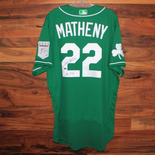 Photo of Autographed St. Patricks Day Jersey: Mike Matheny (Size 48)