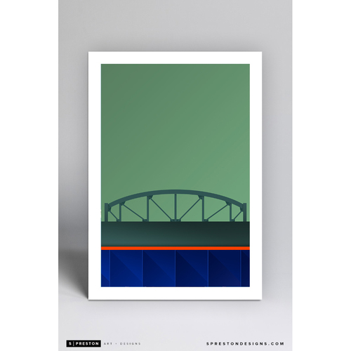 Photo of Citi Field - Minimalist Ballpark Art Print by S. Preston - New York Mets