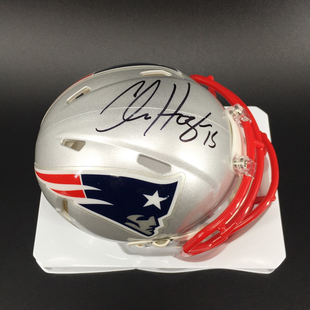 Patriots - Chris Hogan Signed Mini Helmet