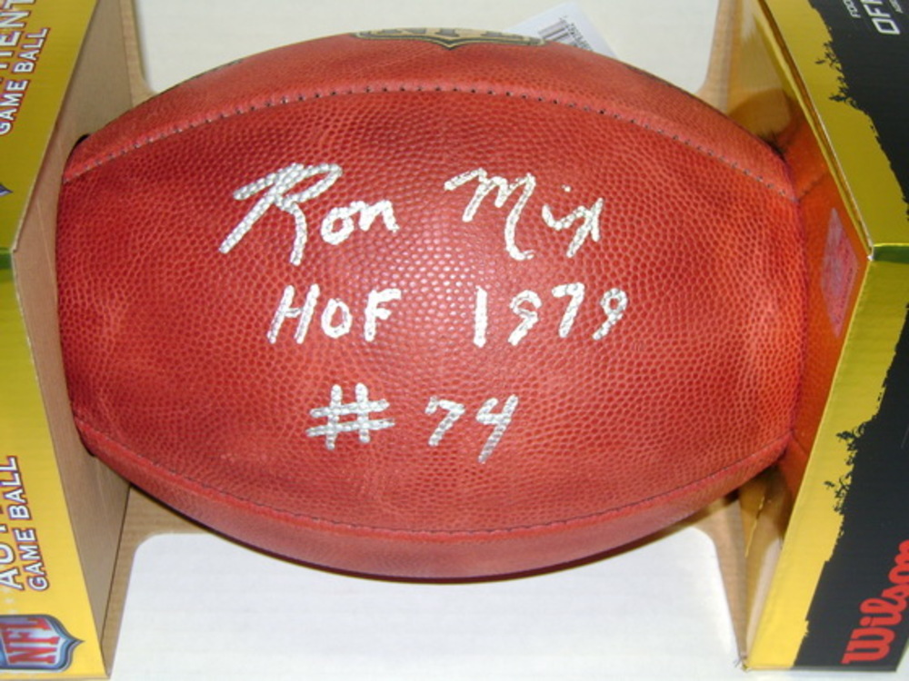 HOF - CHARGERS RON MIX SIGNED AUTHENTIC FOOTBALL