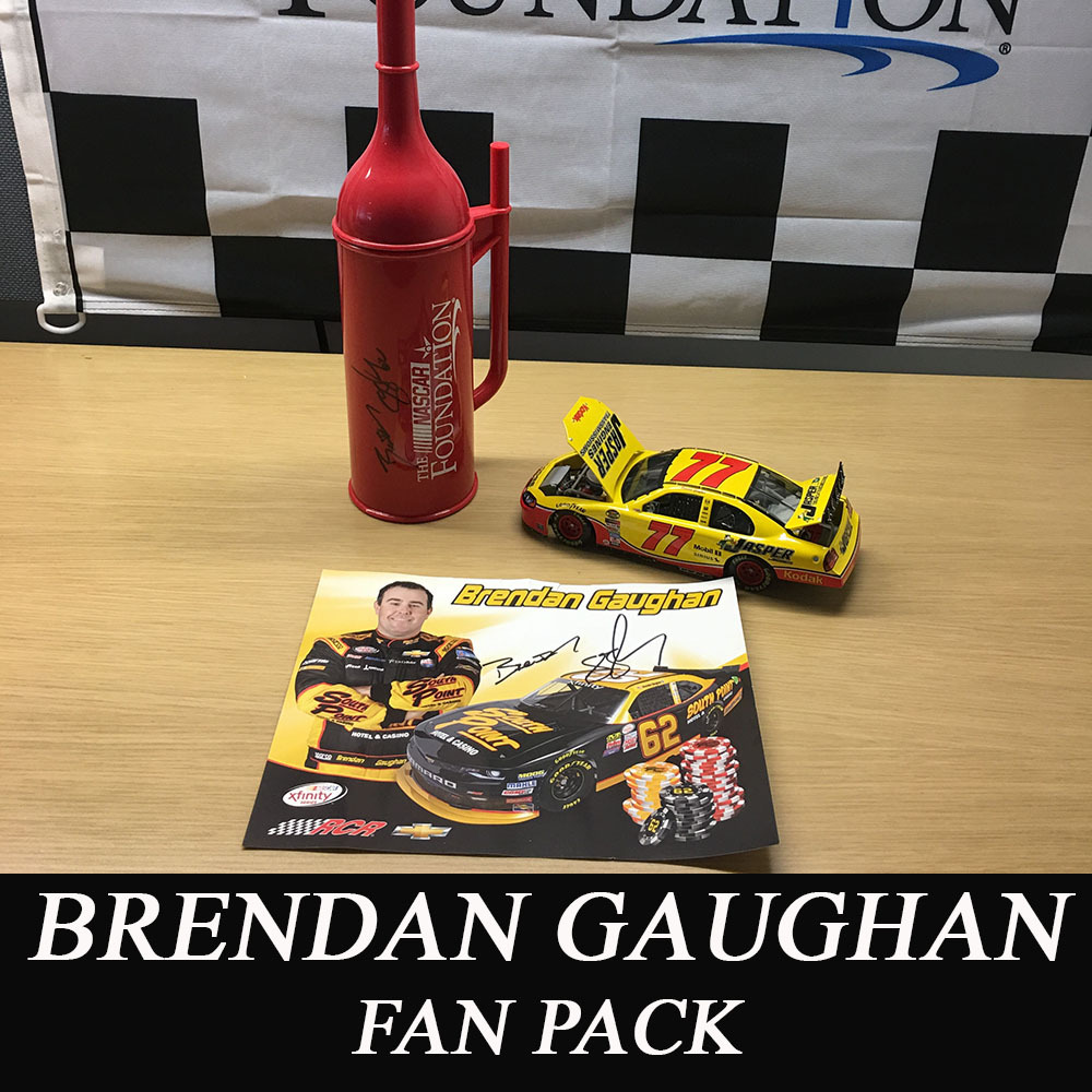 NASCAR'S Brendan Gaughan Diecast and autographed NASCAR Foundation Mini Gas Can and Hero Card!
