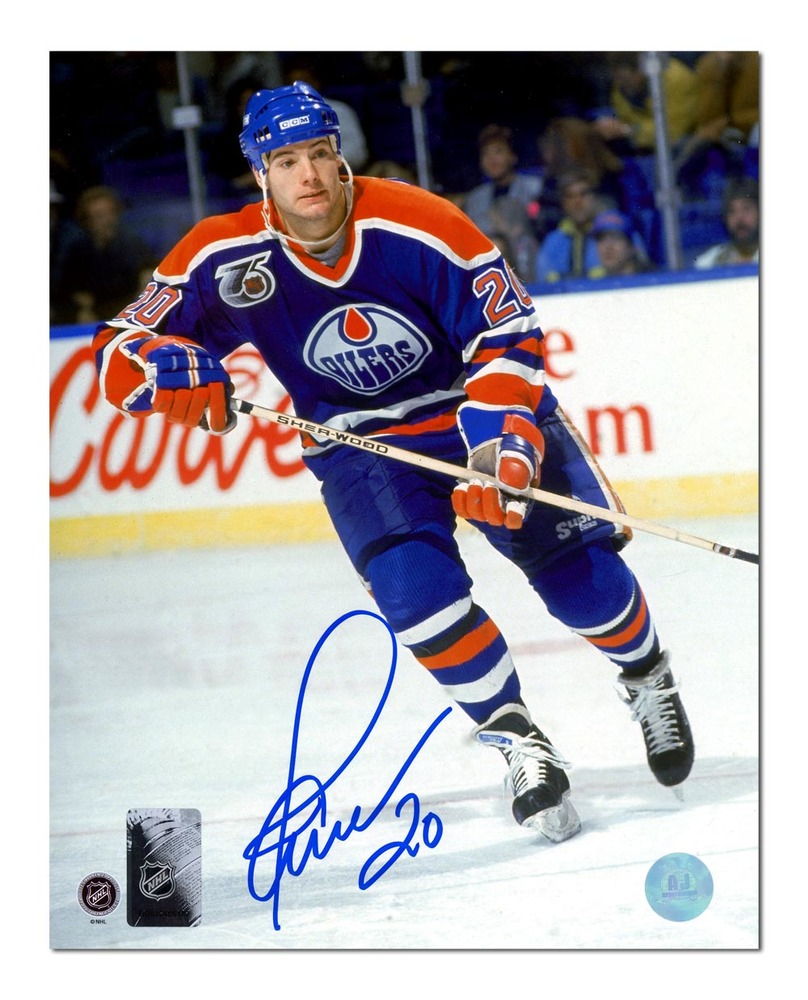Martin Gelinas Edmonton Oilers Autographed Hockey Action 8x10 Photo