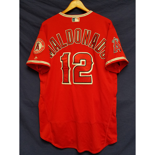 Martin Maldonado Game-Used Alternate Red Jersey