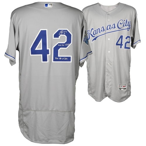 Photo of Eric Hosmer Kansas City Royals Autographed Game-Used Jersey vs. Oakland Athletics