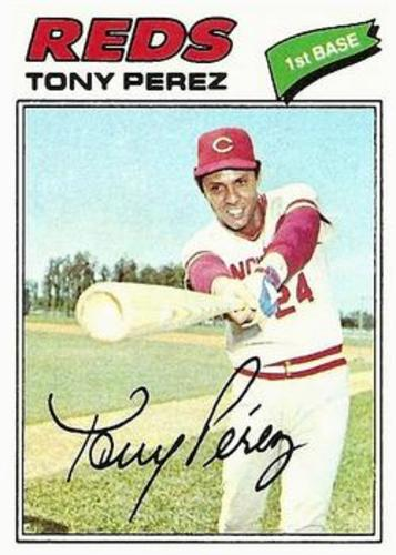 Photo of 1977 Topps #655 Tony Perez -- Hall of Fame Class of 2000