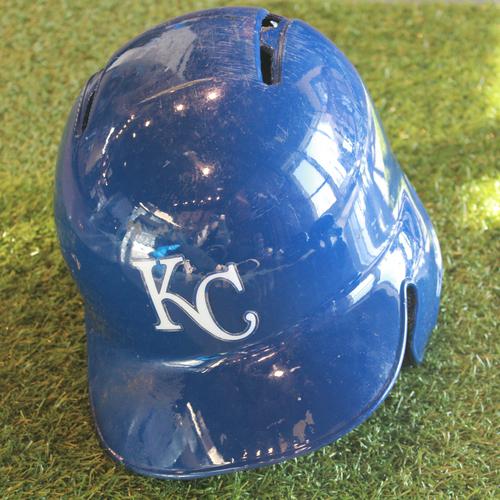 Photo of Game-Used Batting Helmet: Jorge Bonifacio (Size 7 3/8 - KC @ DET - 7/26/17)