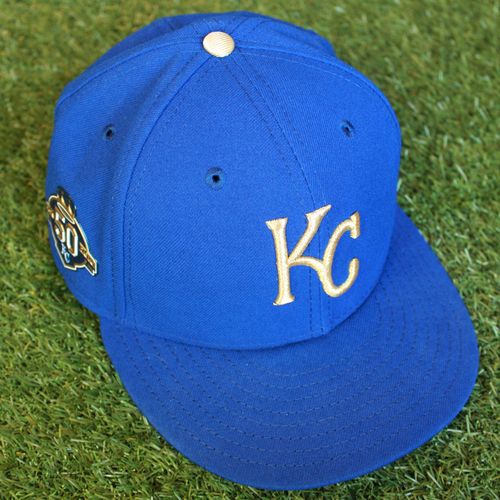Photo of Game-Used 50 Seasons Cap: Burch Smith (Size 7 1/8 - CLE @ KC - 9/28/18)