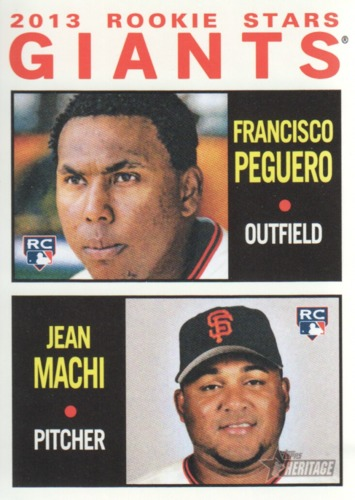 Photo of 2013 Topps Heritage #47 Francisco Peguero RC/Jean Machi RC