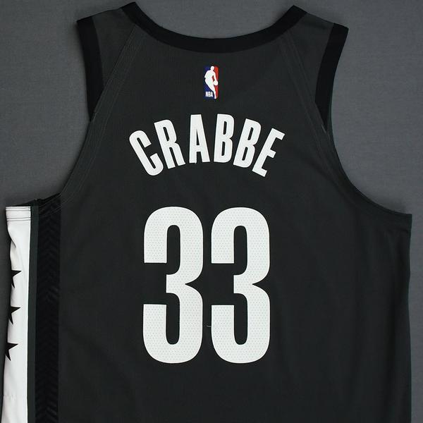 Allen Crabbe - Brooklyn Nets - 2018-19 Season - Game-Worn Gray ...