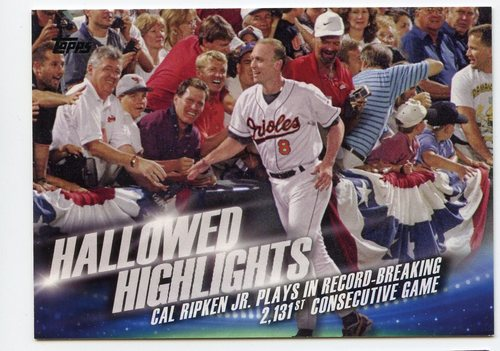 Photo of 2016 Topps Hallowed Highlights #HH8 Cal Ripken Jr.