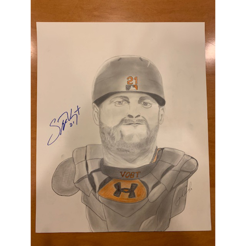 Photo of Giants End of Season Auction: Stephen Vogt Autographed Portrait Sketch