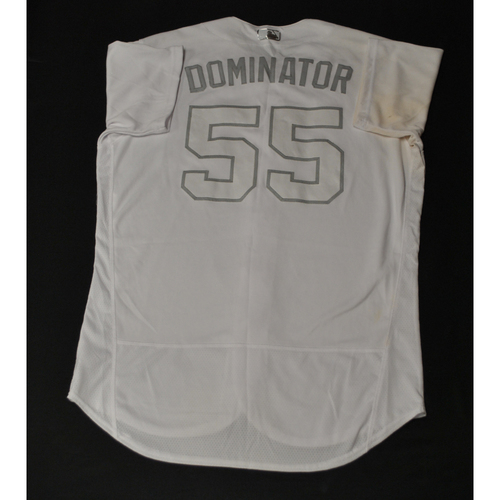 "Photo of Dominic ""DOMINATOR"" Leone St. Louis Cardinals Game-Used 2019 Players' Weekend Jersey"