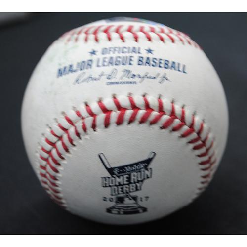 Photo of 2017 Home Run Derby (07/10/2017) - Game-Used Baseball - Aaron Judge (New York Yankees) - Finals, Out