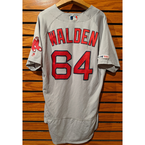 Photo of Marcus Walden #64 Game Used Road Gray Jersey