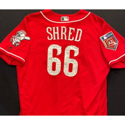 Photo of SHRED -- Authentic Reds Jersey -- $1 Jersey Auction -- $5 Shipping -- Size 46 (Not MLB Authenticated)