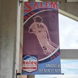 Photo of Andrew Benintendi Concourse Banner