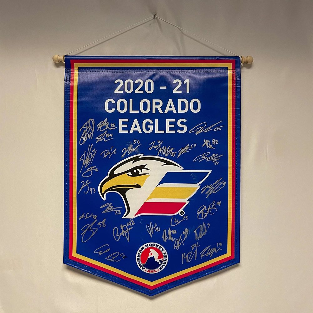2020-21 Colorado Eagles Team-Signed Banner