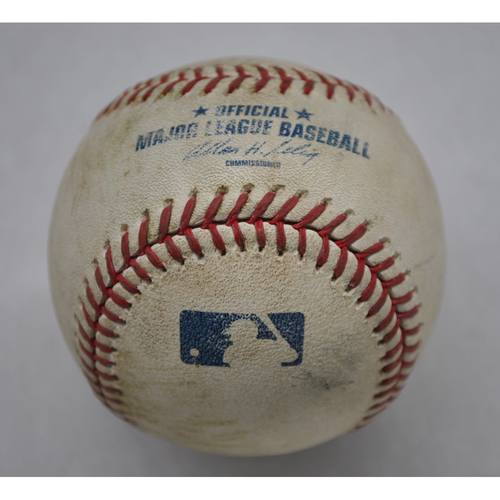 Photo of Game-Used Baseball - 4/8/11 - WSH at NYM - Pitcher - Slaten, Batter - Davis, 6th Inning, Pitch In The Dirt - Opening Day