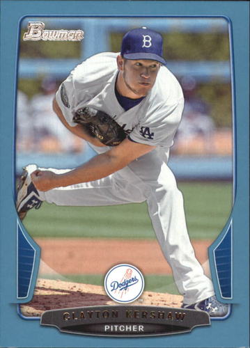 Photo of 2013 Bowman Blue #91 Clayton Kershaw