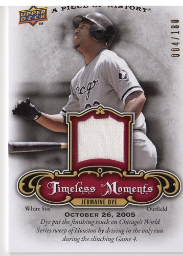 Photo of 2009 UD A Piece of History Timeless Moments Jersey Red #TMJD Jermaine Dye