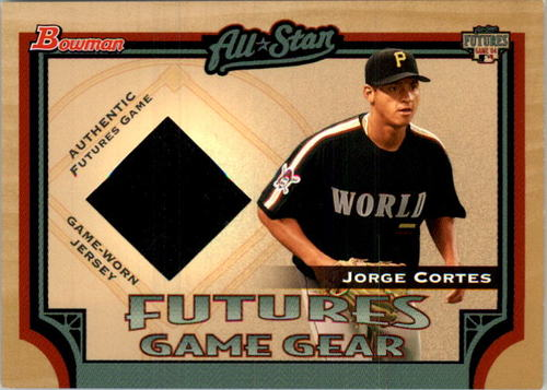 Photo of 2005 Bowman Futures Game Gear Jersey Relics #JCO Jorge Cortes