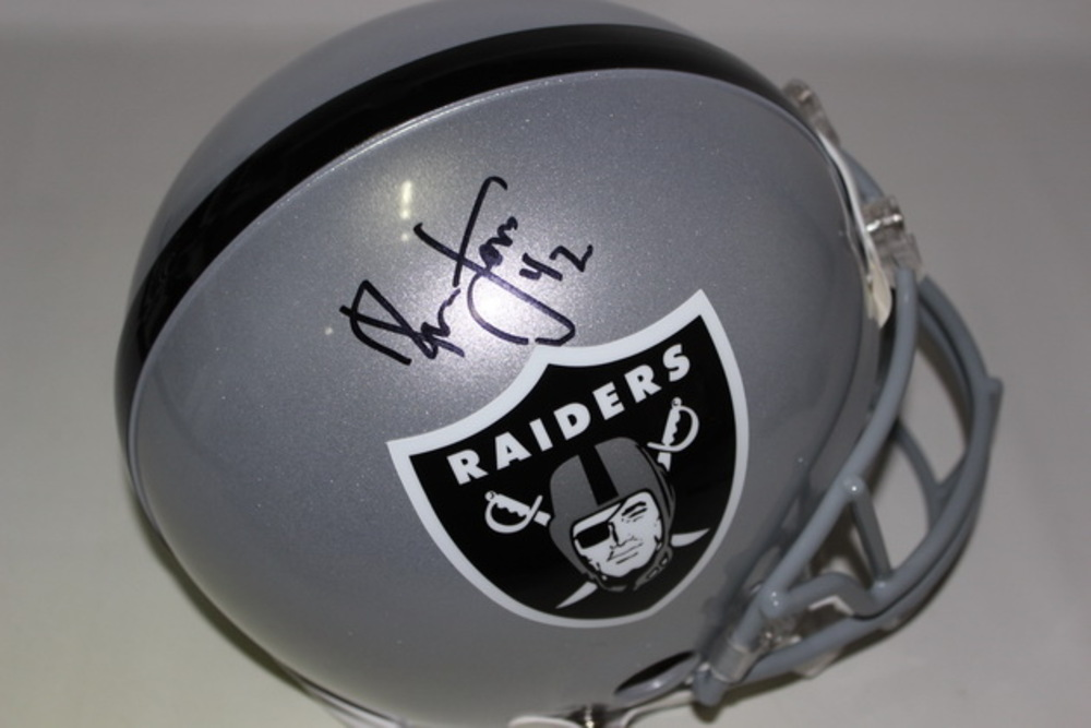 brand new bbae2 aebab NFL Auction | HOF - RAIDERS RONNIE LOTT SIGNED RAIDERS ...