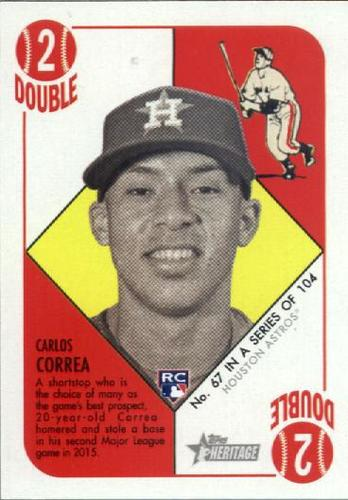 Photo of 2015 Topps Heritage '51 Collection #67 Carlos Correa Rookie card